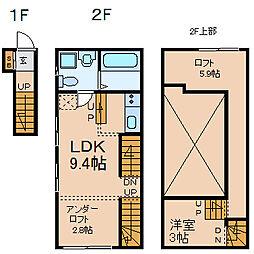 WHITE HILLS EAST (ホワイトヒルズイースト)[2階]の間取り