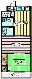 埼玉県川口市鳩ヶ谷緑町2の賃貸アパートの間取り