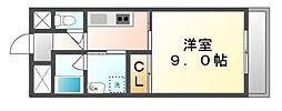 香川県高松市鶴屋町の賃貸マンションの間取り