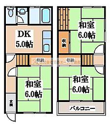 [一戸建] 大阪府堺市堺区柏木町3丁 の賃貸【/】の間取り