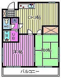 若海ハイツ[2階]の間取り