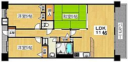 ソルプラーサ堺[14階]の間取り