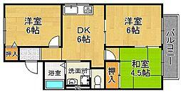 グレースハウス[2階]の間取り