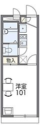JR阪和線 和泉府中駅 徒歩14分の賃貸アパート 2階1Kの間取り