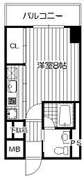 Osaka Metro長堀鶴見緑地線 西長堀駅 徒歩5分の賃貸マンション 4階1Kの間取り