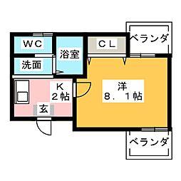 メゾンレグルス[2階]の間取り