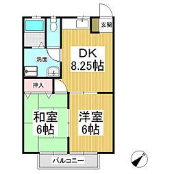 パル中島[2階]の間取り