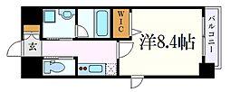 名古屋市営桜通線 桜山駅 徒歩2分の賃貸マンション 2階1Kの間取り