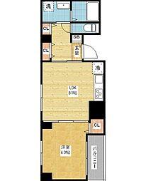 プロスパー第7ビル[2階]の間取り