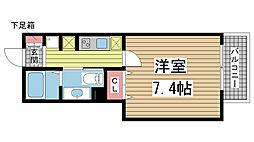 兵庫県神戸市兵庫区三川口町2丁目の賃貸マンションの間取り