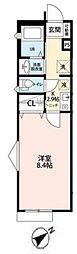 サンクレール松戸[101号室号室]の間取り