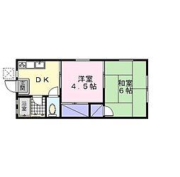 神奈川県座間市立野台2丁目の賃貸アパートの間取り