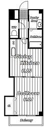 クレアティフ[1階]の間取り
