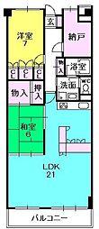 夙川ビューハイツE棟[133号室]の間取り