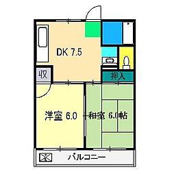 センターハウスはりまや[5階]の間取り