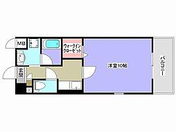 兵庫県姫路市飾磨区山崎の賃貸マンションの間取り