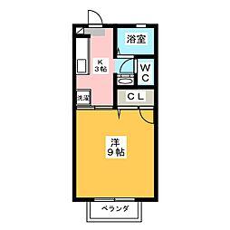 向平ハイツ[2階]の間取り