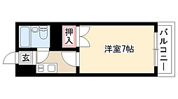 愛知県名古屋市昭和区萩原町4丁目の賃貸マンションの間取り