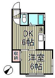 カーサ北鎌倉[201号室]の間取り