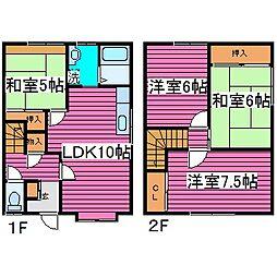 北海道札幌市北区屯田四条1丁目の賃貸アパートの間取り