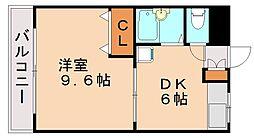 福岡県福岡市城南区七隈4丁目の賃貸マンションの間取り