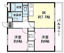 ユアーズホーム[2階]の間取り