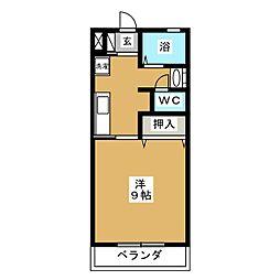 青山ハイツ[1階]の間取り