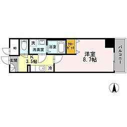 BJ氷川町[0202号室]の間取り
