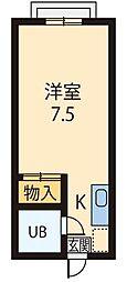 エステートピア今井パートII[108号室]の間取り
