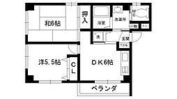 REVE甲東園I・II[2-401号室]の間取り