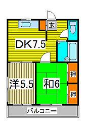 トキ弐番館[4階]の間取り