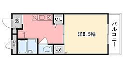 エポック甲子園口[306号室]の間取り