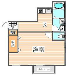 パークサイド吉塚[1階]の間取り