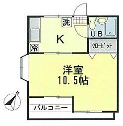 サンライズ上福岡[2階]の間取り