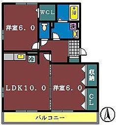グランド・ソレーユ1(大和田新田)[303号室]の間取り