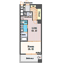 リーガル四ツ橋立売堀II[4階]の間取り
