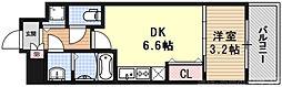 THE GARNET MILLENNIUM KYOTO九条烏丸 5階1DKの間取り