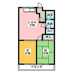 ファインシティ II[2階]の間取り