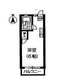 東京都杉並区清水1丁目の賃貸アパートの間取り