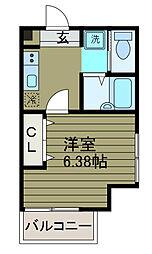 神奈川県相模原市南区古淵2丁目の賃貸アパートの間取り