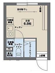 COCOFLAT笹塚III 2階ワンルームの間取り