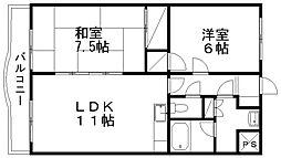 新潟県新潟市西区ときめき東1丁目の賃貸マンションの間取り
