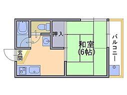 ハイツ堀ノ内[2階]の間取り