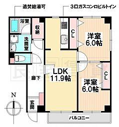 愛知県名古屋市南区鳥山町3丁目の賃貸マンションの間取り