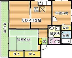グリーンディアス B棟[1階]の間取り