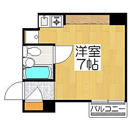 リエス東堀川[3階]の間取り