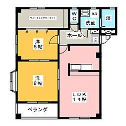 Fortuna Casa 巽[3階]の間取り