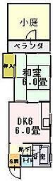 喜多マンション[1階]の間取り