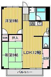 神奈川県川崎市中原区小杉町2丁目の賃貸マンションの間取り