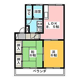 レコルト福田 II号館[3階]の間取り